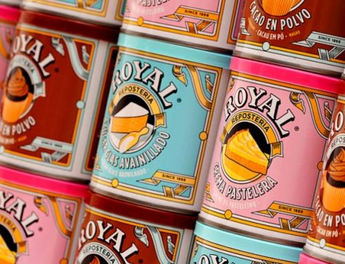 Redesign da marca do fermento em pó Royal